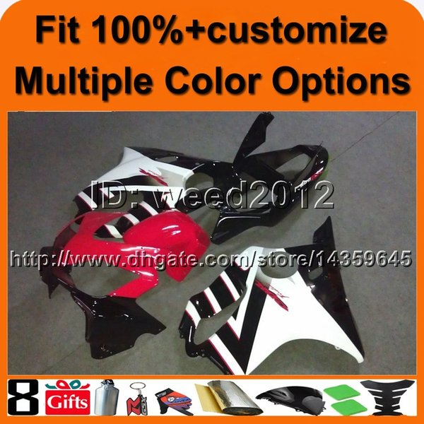 23colors+8Gifts Injection mold white black red motorcycle cowl for HONDA CBR 600F4i 2001-2003 F4i 01 02 03 ABS Plastic Fairing Bodywork Set