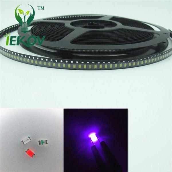 High Quality 5000pcs/Lot 1206 SMD Purple/UV led 400-410nm Super Bright Light Diode SMD/SMT Chip lamp beads DIY Retail