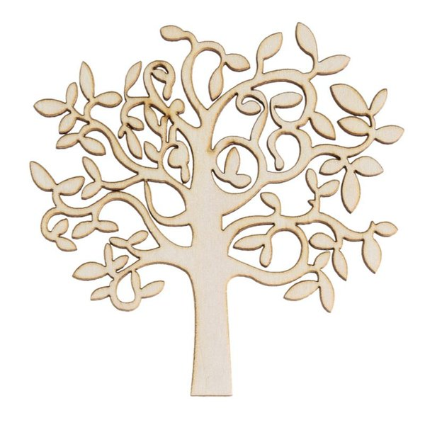 New 10Pcs Wooden MDF Tree Shape Decor for Family Tree Decorations Wooden Craft Wooden Tree Decor Wood Home Decoration order<$18no track