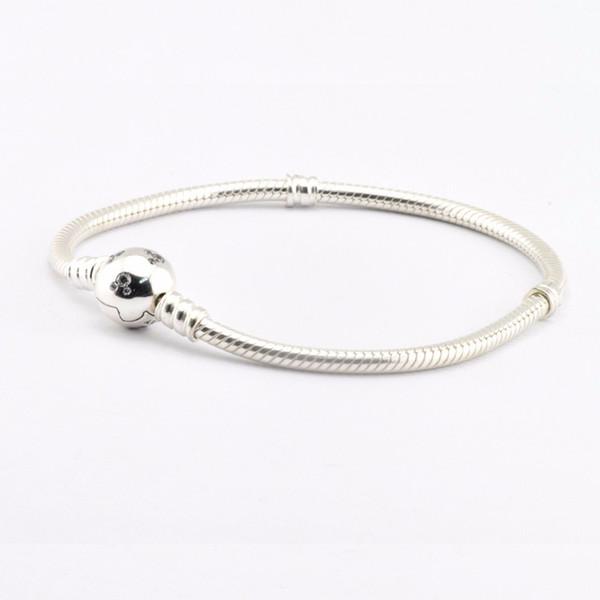 MICKEY BRACELET CLEAR CZ 100% 925 Sterling Silver Bead Fit Pandora Fashion Jewelry DIY Charm Brand