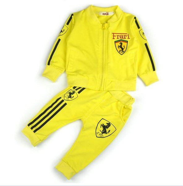boys clothes girls tracksuits for kids sport suit spring Fall set vetement garcon Cardigan baby jacket+trousers toddler clothing