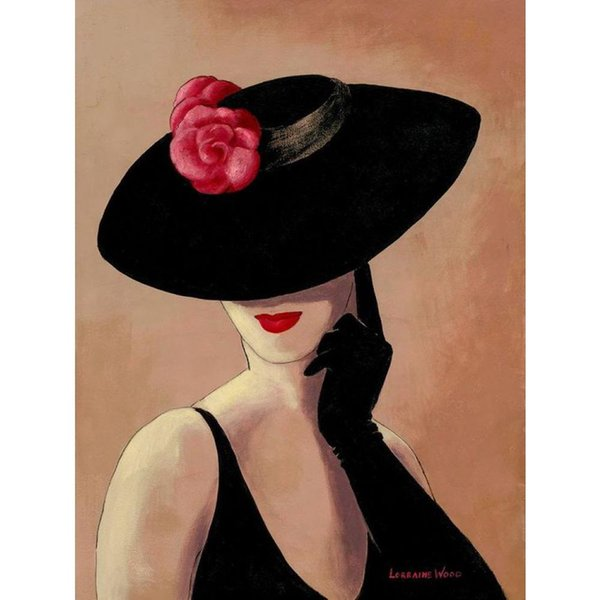 Abstract Art Lady In Rose Hand Painted Woman Oil Paintings Canvas For Wall Decor Canada 2019 From Cherry02016 Cad 116 48 Dhgate Canada