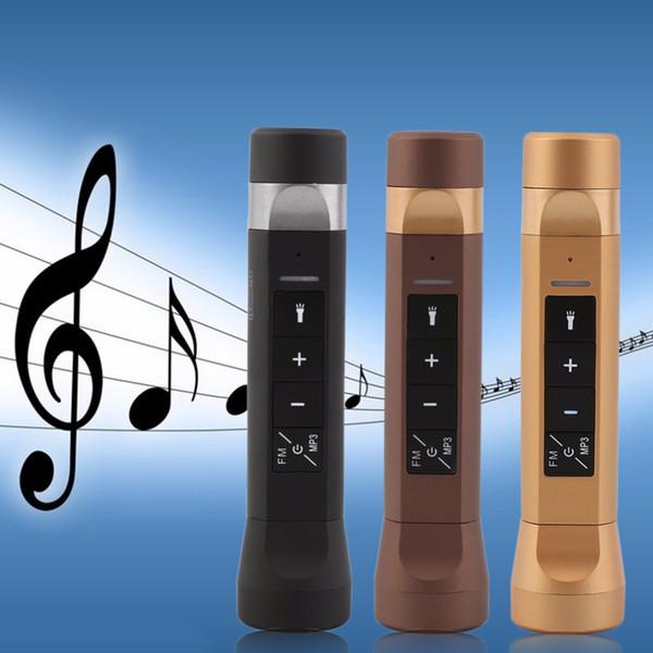 Multifonction 4 En 1 Haut-parleurs Lampe De Poche Musique Torche Vélo Vélo Bluetooth Haut-parleurs Chargeur De Banque Chargeur Pour Mobile DHL Gratuit OTH228