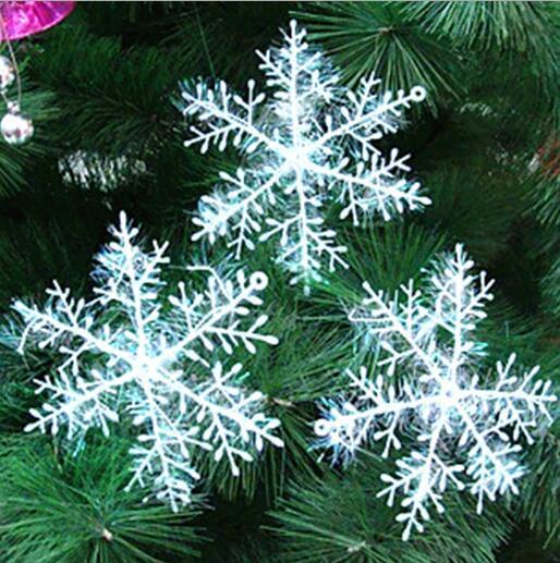 Festival de Fête de Vacances de Flocon de Neige Blanc Ornements de Noël Décor
