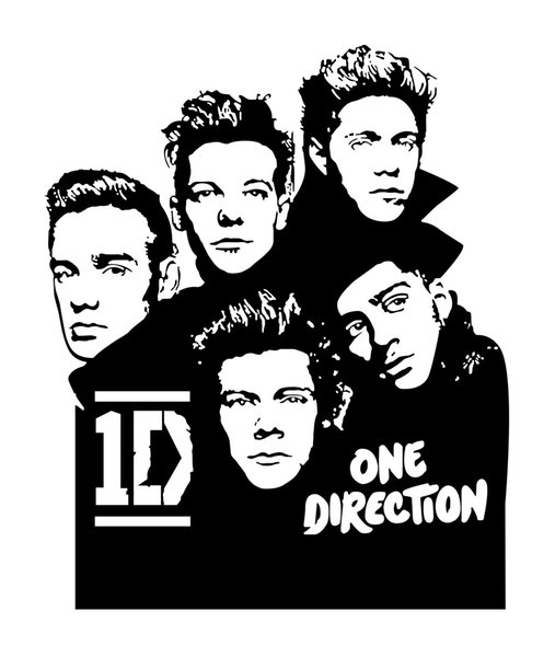 1PC One Direction Wall Sticker For Kids Rooms Bedroom Living Home  Decoration Pictures Removable Wall Art