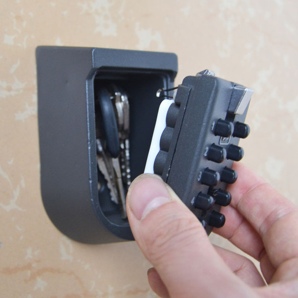 top popular KSB04 Wall-Mounted Key Storage Key Safe Box with 10-digit Combination Lock 2021