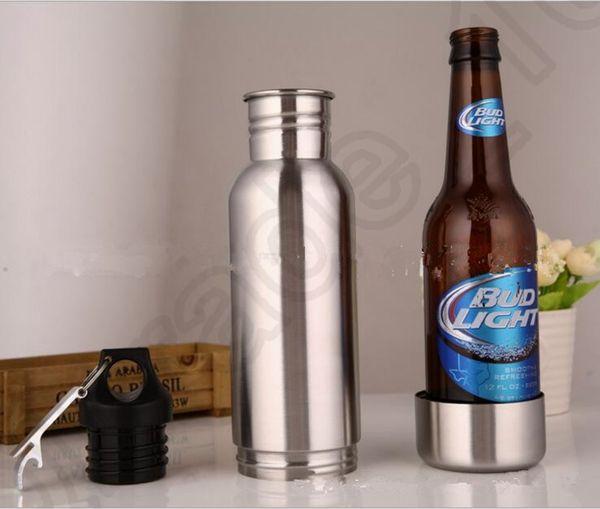 beer bottle armour koozie keeper stainless steel keeper armour bottle koozie insulator with bottle opener 10pcs