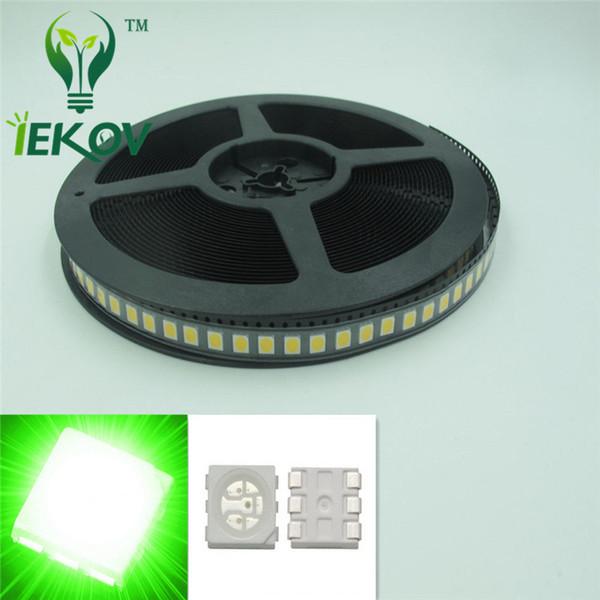 5000pcs High Quality PLCC-6 5050 SMD Green led Super Bright Light Diode 3.0-3.2V For Bike DIY SMD/SMT Chip lamp beads