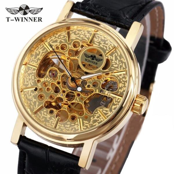 2019 Ladies Luxury Watches WINNER Women Automatic Mechanical Golden Skeleton Wrist Watches for Female Top Brand Luxury