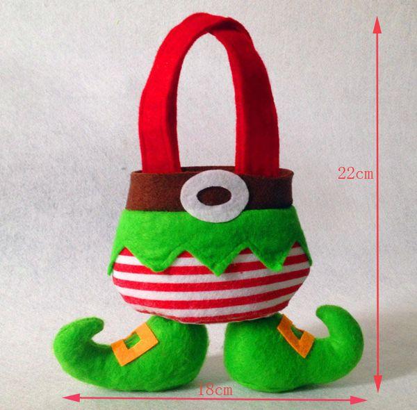 Candy Gift Bag Christmas Santa Elf Spirit Pants Stocks Filler Sweet Sack Gift