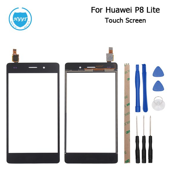 Wholesale- For Huawei P8 Lite Touch Screen Original 5.0inch Touch Panel Perfect Repair for Huawei P8 Lite Mobile Accessories Free Shipping