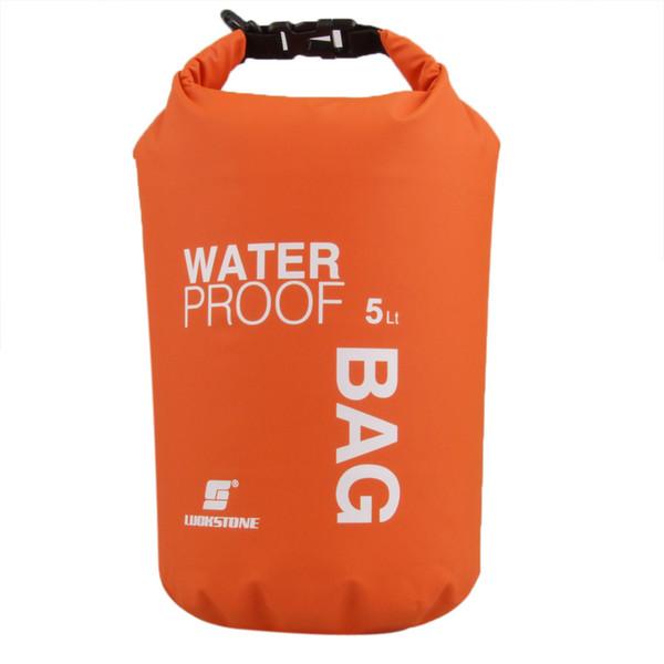 top popular 5L Ultralight Outdoor Travel Waterproof Bag High Strength Fabric Rafting Dry Bags Hiking Swimming Travel Kit 4 Colors 2019