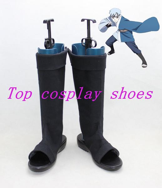 Gros-Boruto Naruto le film fils de Ororu Mitsuki Kimono Cosplay chaussures bottes chaussure botte tissu ver # NNC05 Halloween Noël