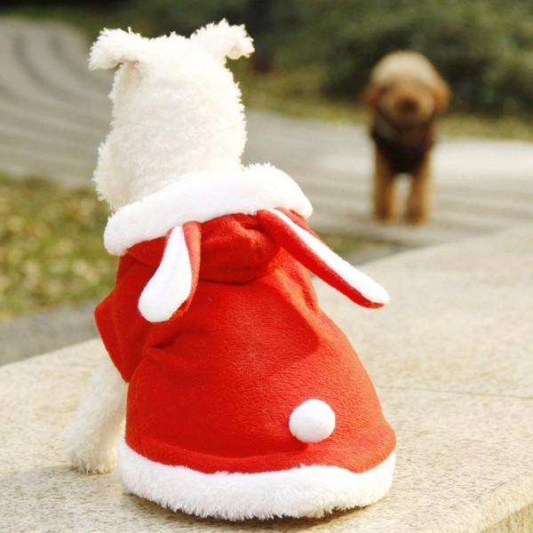 Rabbit Style Dog pet Jacket Supplies Dog Clothes Rabbit Winter Apparel Puppy Costume Warm With 3 Colors