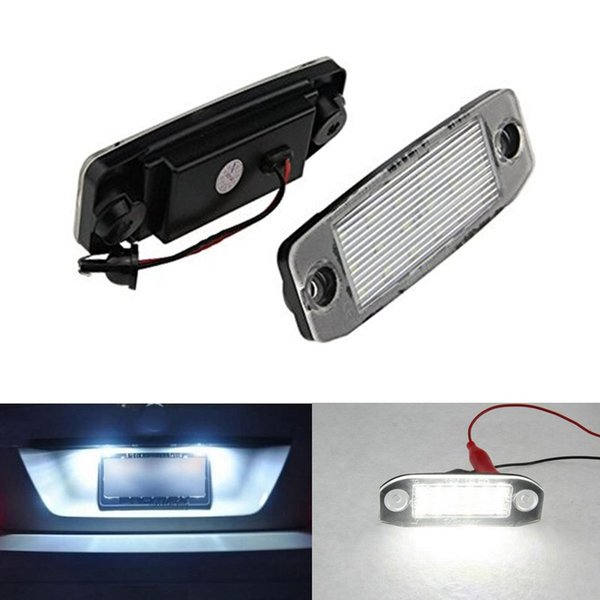 2x Error free 18SMD LED License Plate Light Car Bulbs Number Plate Lamps for Volvo C30 S40/V50 S60S80 V70 CX60 CX70 CX90