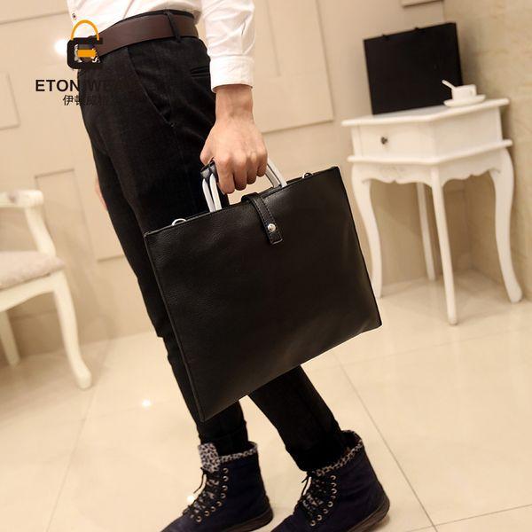 Wholesale- Men PU Leather Handbag Fashion Crossbody Shoulder Bags Messenger Bag Briefcase Business For Male Tote
