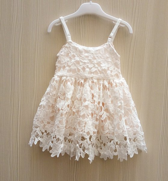 2018 New Baby Girls Crochet Lace Dresses 2016 Kids Girl Hallow Out
