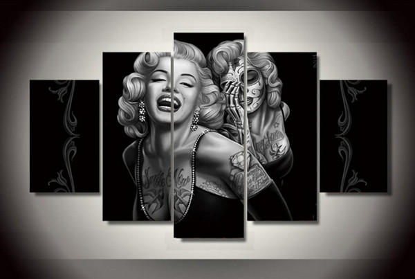 best selling Day of the Dead Face canvas wall art painting for home decoration abstract figure painting of Marilyn Monroe
