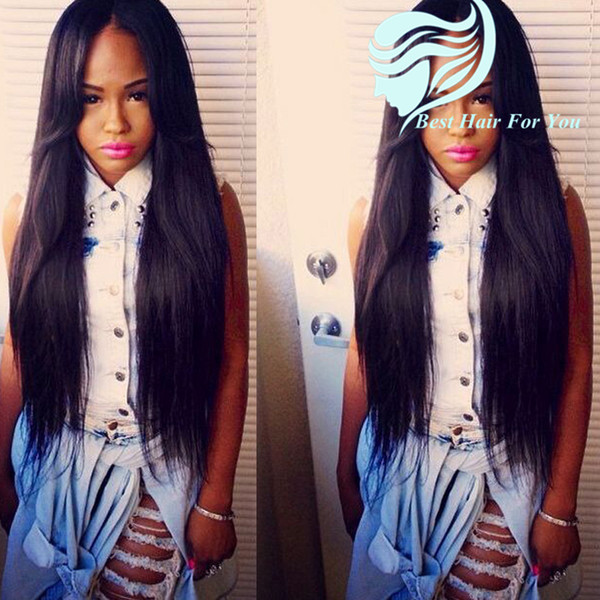 8A Wholesale Price Straight Glueless Full Lace Human Hair Wigs Brazilian Virgin Hair Lace Front Human Hair Wigs With Baby Hair