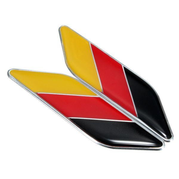 1 Pair 3D Car German Germany Flag Sticker Badge Emblems Decal Decor For BMW /VW /OPEL /AUDI