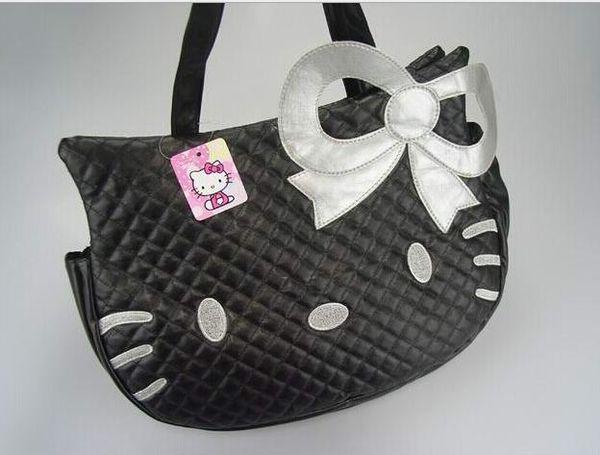 Big HelloKitty Bolsa Bolsa de Ombro Tote Bolsa Bonito Olá Kitty cat cabeça tipo de moda bolsas HJIA492