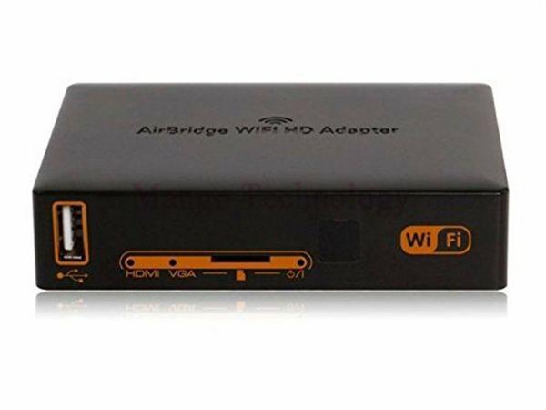Freeshipping 1080 P Wifi HDMI VGA LAN HD Adaptörü Kablosuz Verici için TV / Projektör Desteği Android IOS Windows Dönüştürücü