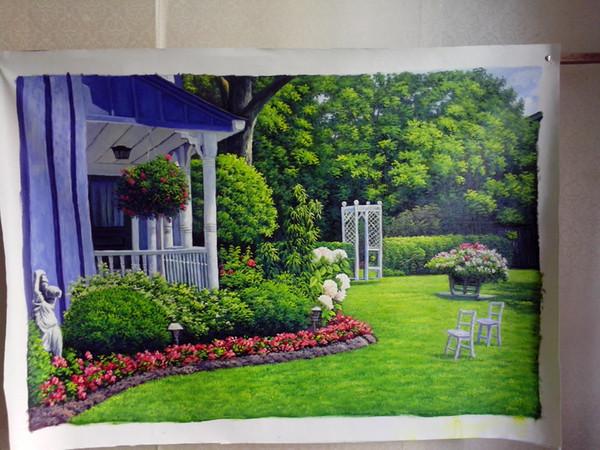 top personalizzato handmade pittura a olio di paesaggio casa tela pannello dipinto su tela pittura nuovo regalo di homecoming decorazione della parete di arte trasporto DHL