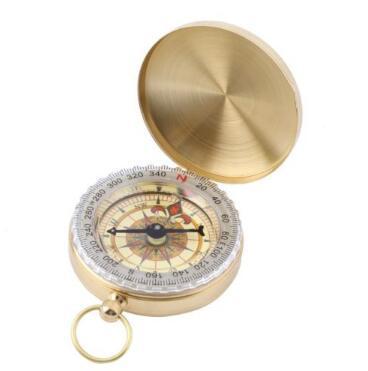 Portable Messing-Taschen-goldene Fluoreszenz-Kompass-Navigations-Taschen-Kompass-im Freiensport-kampierende wandernde im Freien Geräte CCA7191 300pcs