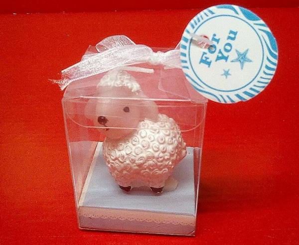 100sets/lot, Creative Small lamb birthday candles Children's party decoration candle Valentine's day birthday candle