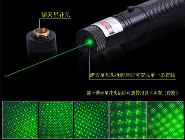 Most Powerful 2000000M High Power Green Laser Pointer 532nm SOS LED Military Flashlight, camping signal lamp Light, Astronomy Lazer Hunting