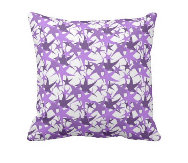 Throw Pillow Case, Double-sided print Dancing Stars Square Sofa and Car Cushion Cover (16inch, 18inch, 20inch)