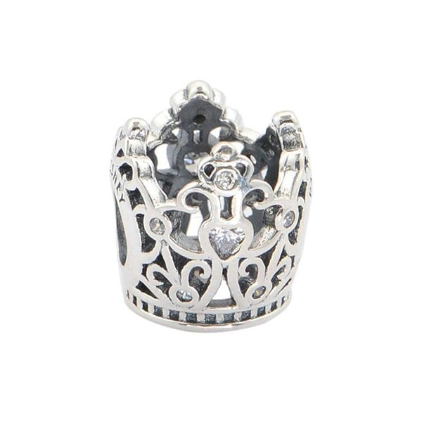 crown charms beads pendants men 925 sterling silver fits DIY pandora style bracelet and necklace free shipping hot sale LW464