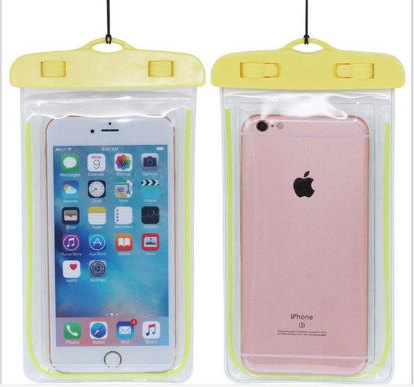 waterproof phone case yellow