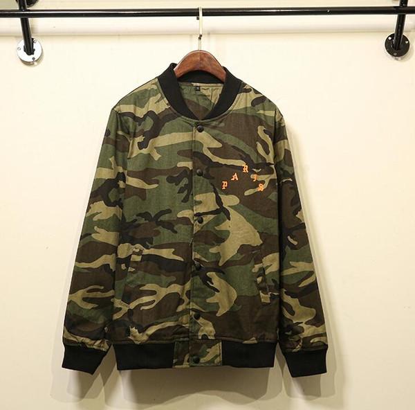 Acheter Kanye West Camouflage Armée Veste Hommes Femmes Jaqueta Masculina Pablo Blouson Bombardier Pilote Militaire Vol Veste Coupe Vent De $39.6 Du