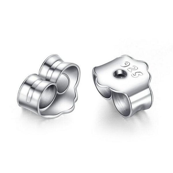 best selling 925 silver ear plugs Earring Back Men and women accessories Anti allergy Earrings Pure Tremella blocking ear cap silver jewelry