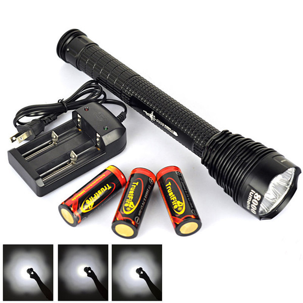 2016 New 26650 7T6 LED Flashlight 8000 lumens 7*CREE XM-L T6 Torch Tactical Flashlight Lantern Hunting Outdoor Light High Power