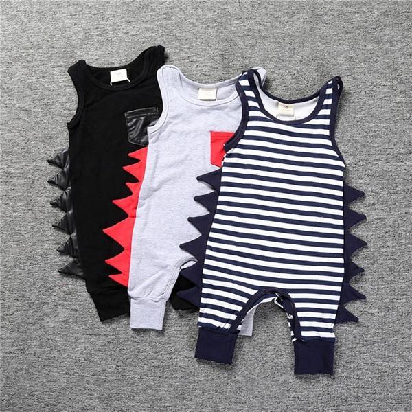 Baby-Spielanzug Sommer Dinosaurier-Spielanzug der Junge Tier Overall-Harem-Hosen-Kleinkind-Säugling Outwear Baby-Bekleidung Top-Qualität