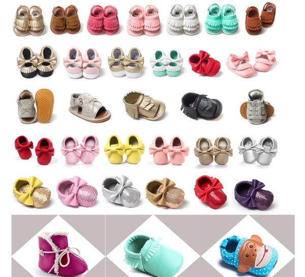 best selling 4th of July ins Suede Leather Baby Lace Up Shoes bow Tassels Fringe maccasions shoes infant leopard camouflage sequins walking shoes