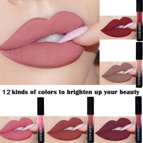 Brand New Women Makeup Sexy Red Lip Matte Liquid Lipstick Waterproof Long Lasting Nude Lip Gloss Matte Lip Tint Cosmetics RF0541
