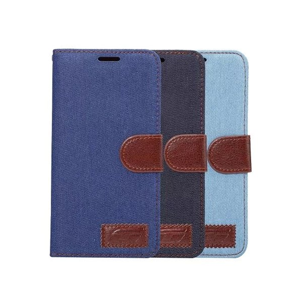 Jean PU leather Case for iphone 7/plus with Card Slot Holder Flip Wallet Cover for Samsung GALAXY Note 7 20PCS/UP