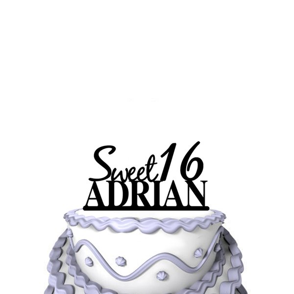 Personalized Funny Wedding Cake Toppers Sweet 16 Birthday Party