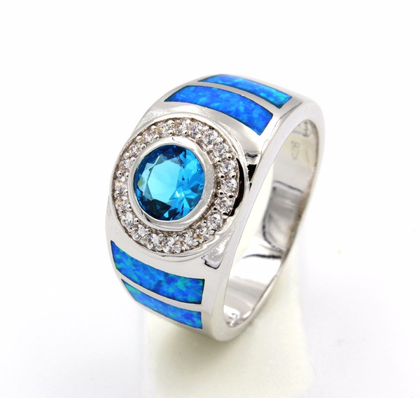 Cool Blue Fire Opal Ring for Men 2018 from fireopaljewelry 647