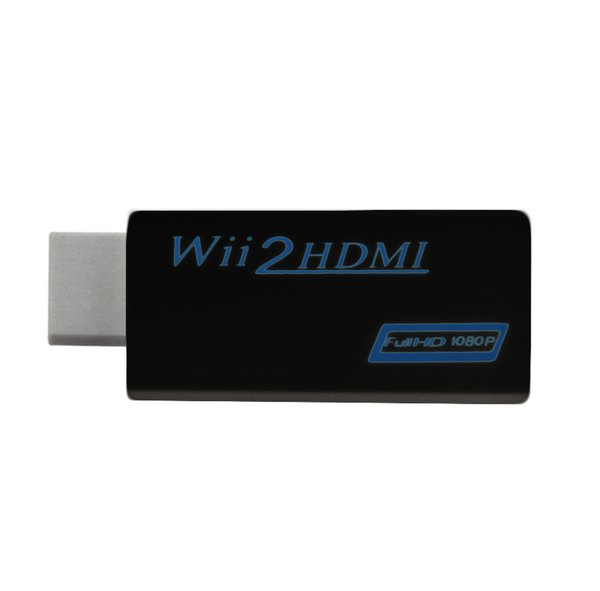 best selling WII TO HDMI, WII 2 HDMI Converter support 720P & 1080P HD Output Upscaling Adapter, black