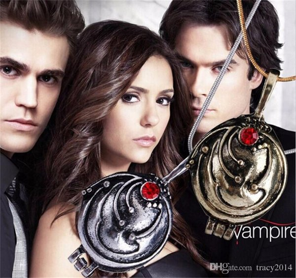 The Vampire Diaries necklace pendants women man necklace with snake chain Elena vervain Necklace sweater chain star necklaces