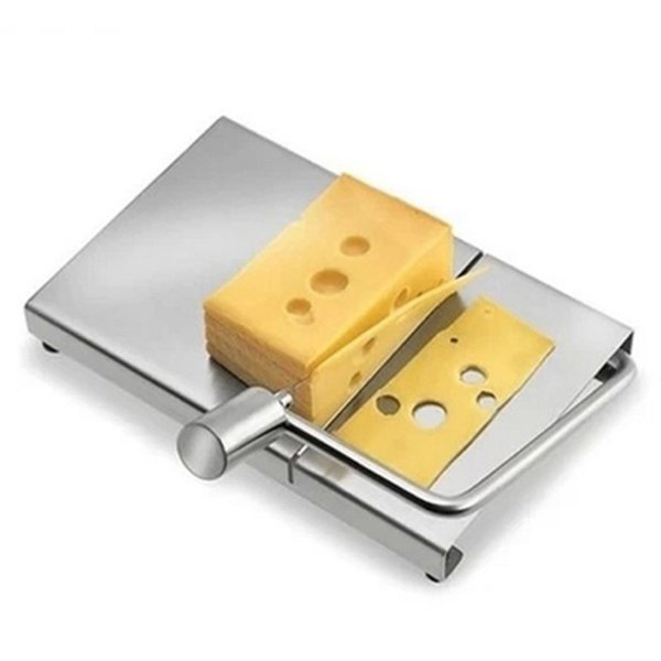 top popular Stainless steel Eco-friendly Cheese Slicer Butter Cutting Board Butter Cutter Knife Board Kitchen Kitchen Tools LZ0694 2019