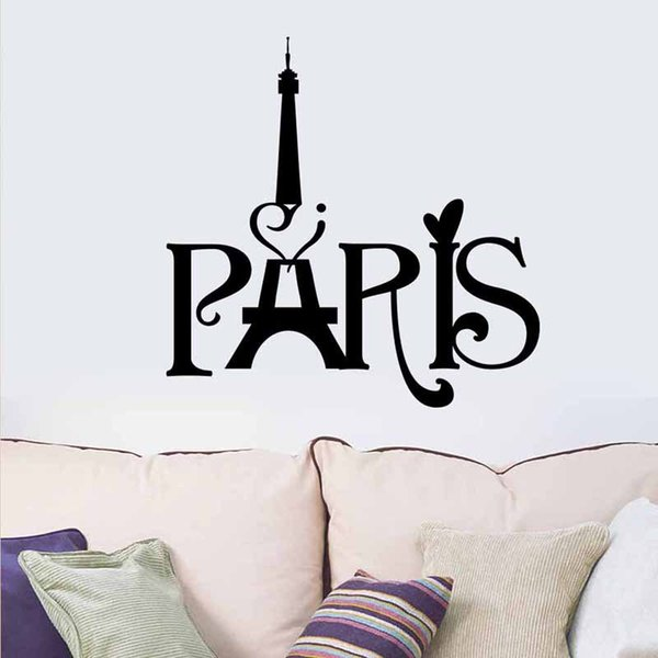 Free Shipping Wedding Decorations Stylish Paris Tower PVC Removable Room Decal Art Wall Sticker Home Decor Papel De Parede E5M1 order<$18no