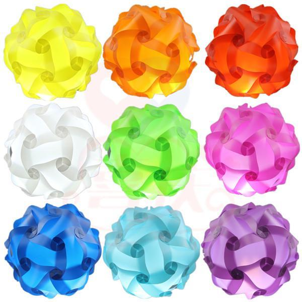 30pcs/set 250MM 110-240V Modern Contemporary DIY Elements IQ Jigsaw Puzzle Lamp Shade Ceiling Pendant Lamp Ball Light Lighting