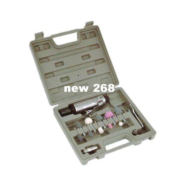 Freeshiping pneumatic grinding tool air grinder bright polish air die grinders set 7032 (connector: EU Italy Germany America Japan type)