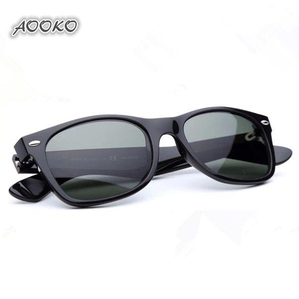 b225954f412 AOOKO best UV400 protection Plank black Sun glasses glass Lens G15 Green Sun  glasses beach sunglass Glass Polarized sunglasses 52 55mm