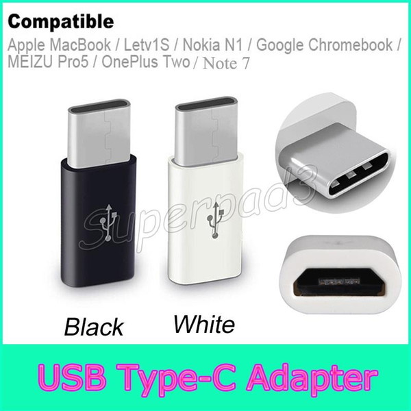 top popular Samsung Galaxy Note 7 Type C Male Micro USB 2.0 Female Data Sync Cable Adapter For Apple Macbook Google Chromebook Nokia N1 2021